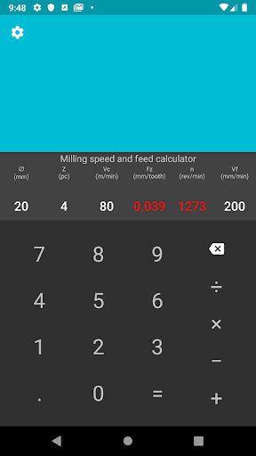 CNC calculator 2.1 screenshots n 5