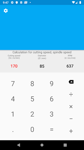 CNC calculator 2.1 screenshots n 6