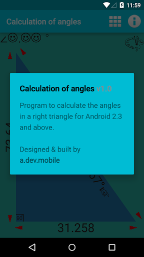 Calculation of angles 1.0 screenshots n 3