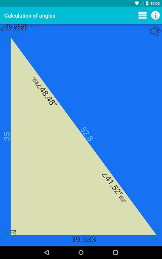 Calculation of angles 1.0 screenshots n 5