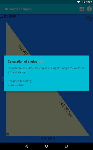 Calculation of angles 1.0 screenshots n 6