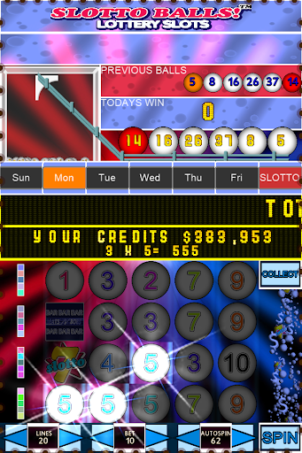 Slotto Balls Lottery Fruit Machine 7004 screenshots n 4