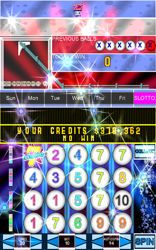 Slotto Balls Lottery Fruit Machine 7004 screenshots n 6