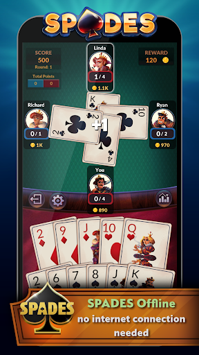 Spades – Offline Free Card Games 2.0.3 screenshots n 1